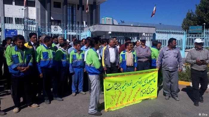 Iran | Protestierende Eisenbahnarbeiter