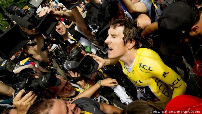 Frankreich Tour de France - Geraint Thomas (picture-alliance/empics/P. Goding)