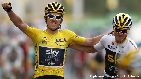 Frankreich Tour de France - Geraint Thomas (picture-alliance/dpa/L. Rebours)