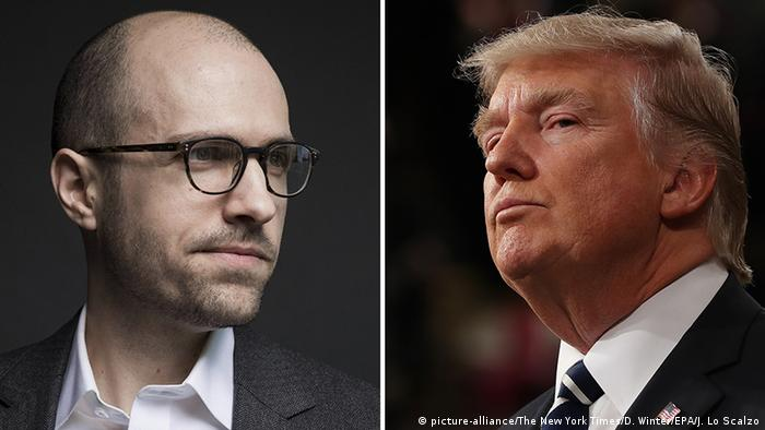 Kombobild A. G. Sulzberger und Donald Trump (picture-alliance/The New York Times/D. Winter/EPA/J. Lo Scalzo)