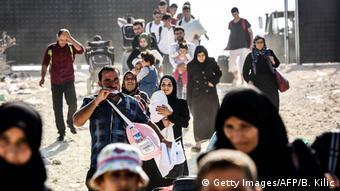 پناهجویان سوری در مرز ترکیه