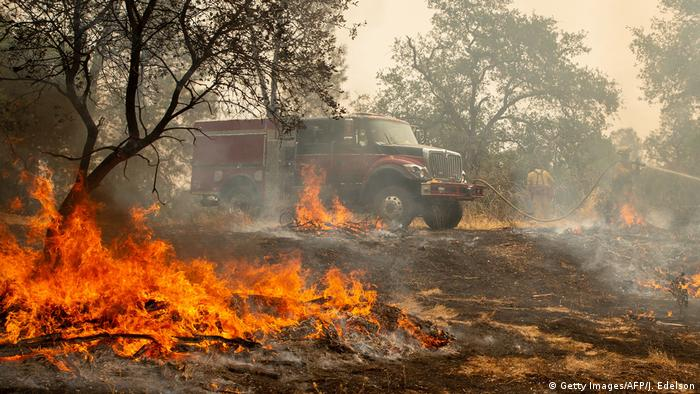 USA Kalifornien - schwere Waldbrände bei Redding (Getty Images/AFP/J. Edelson)