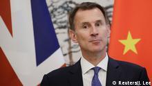 China Peking Britischer Außenminister Jeremy Hunt