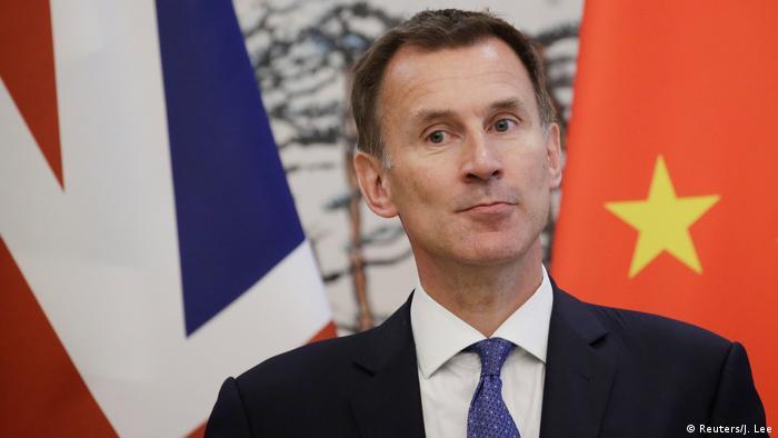 China Peking Britischer Außenminister Jeremy Hunt (Reuters/J. Lee)