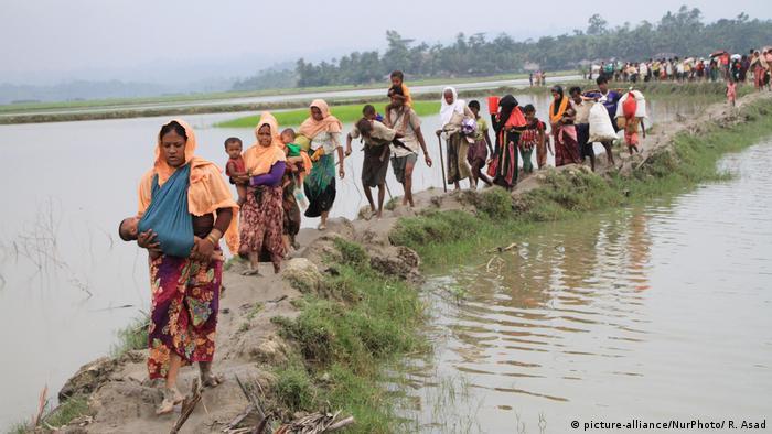 Symbolbild Indien Bangladesh Grenze (picture-alliance/NurPhoto/ R. Asad)