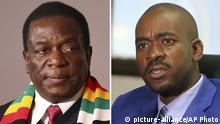 Bildkombo Simbabwe Präsidentschaftswahlen Mnangagwa Chamisa