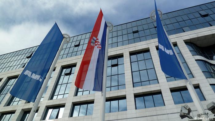Zagreb Sitz des Mineralöl- und Gas-KonzernsINA
