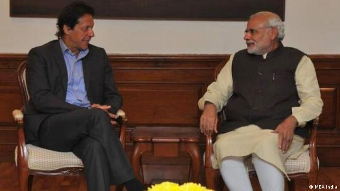 Pakistan's Imran Khan and India's Narendra Modi meet in New Delhi in 2015