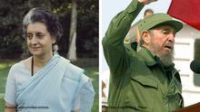 Bildkombo - Indira Gandhi und Fidel Castro