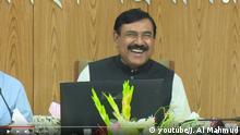 Screenshot Youtube | Shajahan Khan, Schiffahrtsminister PK zum Verkehrsunfall von Kurmitola