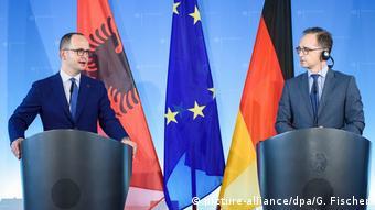 Berlin - PK Heiko Maas und Ditmir Bushati (picture-alliance/dpa/G. Fischer)