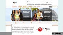 Screenshots - Website des Bundesamts für Immigration und Flüchtlinge