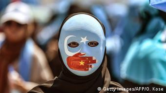 Türkiye'de Çin'deki Uygurlar için düzenlenen bir protesto gösterisinden