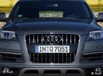 The grille of an Audi Q7