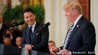 Джузеппе Конте и Дональд Трамп