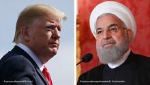 Bildkombo - Trump und Rohani
