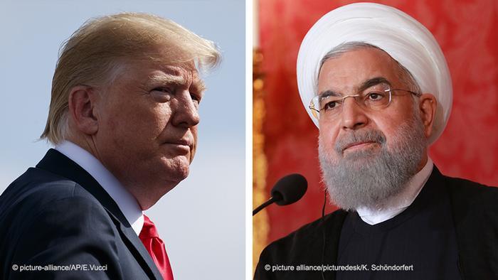 Обоє тиснуть на Багдад: президент США Дональд Трамп (ліворуч) та президент Ірану Хассан Роухані