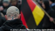 Deutschland Rechtsextremismus - Asylfeindliche Aufmärsche in Brandenburg