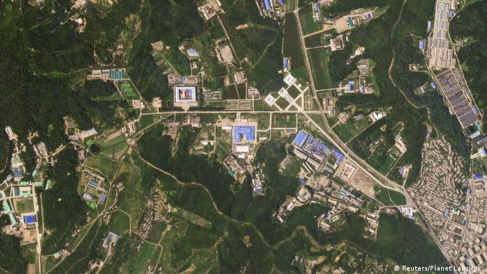 A satellite image showing the Sanumdong facility (Reuters/Planet Labs Inc.)