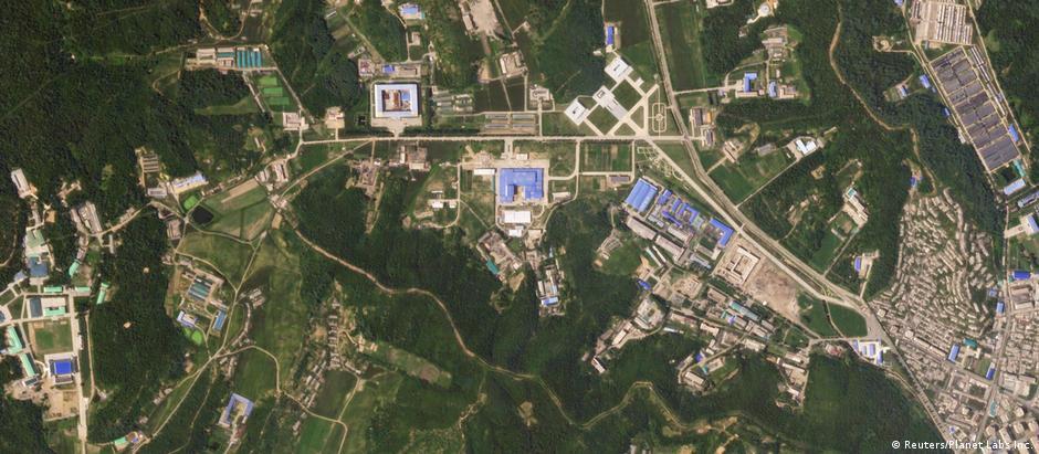 Imagem de satélite da fábrica de mísseis de Sanumdong, nas proximidades de Pyongyang