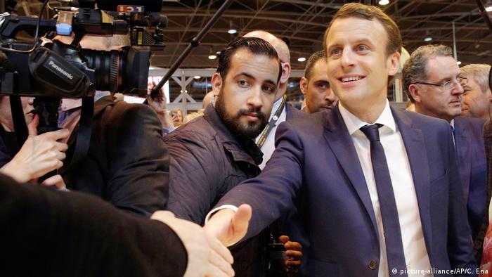 Emmanuel Macron and Alexandre Benalla (picture-alliance/AP/C. Ena)