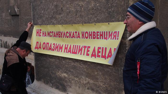 Bulgarien Varna - Proteste gegen Istanbuler Konvention (BGNES)
