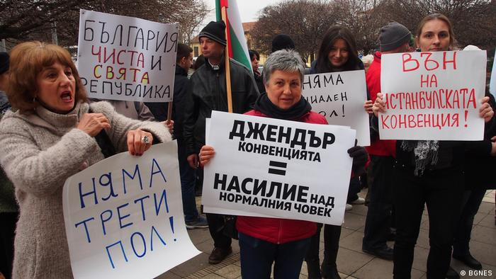 Bulgarien Varna - Proteste gegen Istanbuler Konvention