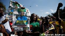 Unterstützer der ZANU-PF Partei in Harare