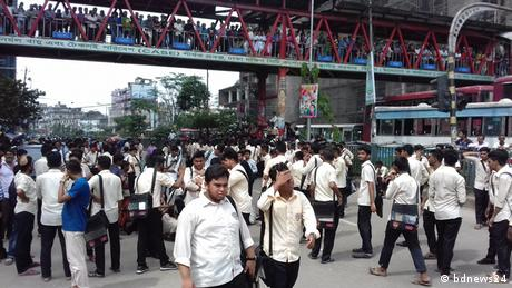 Bangladesh Dhaka Straßenunfall (bdnews24)