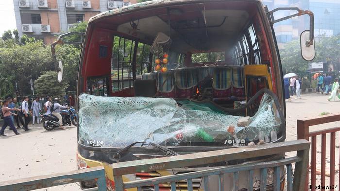 Bangladesh Dhaka Straßenunfall