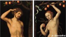 Das Diptychon Adam und Eva v.Lucas Cranach dem Älteren (Gemeinfrei)