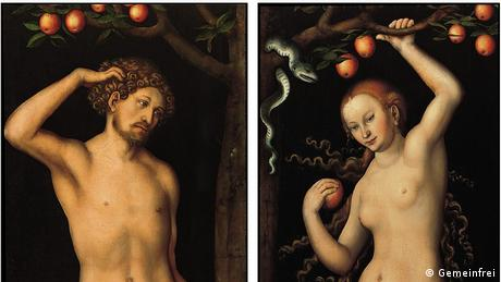 Lucas Cranach the Elder (1472–1553) Adam and Eve (Gemeinfrei)
