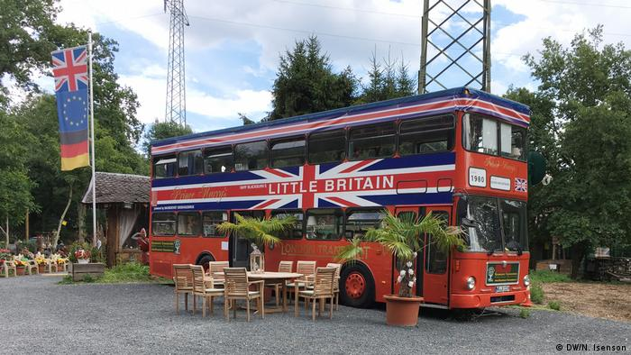A double-decker bus at Little Britain