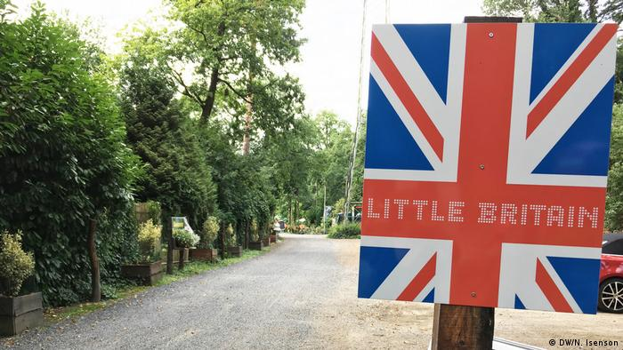 A Union Jack sign reads 'Little Britain'
