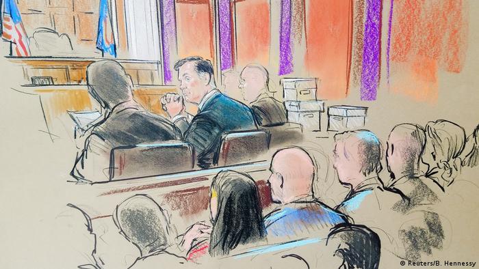 Ілюстрація з судового процесу над Полом Манафортом