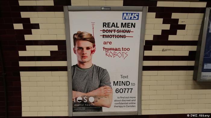 Großbritannien übermalte Werbung von NHS in London