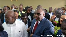 01.08.2018 Congolese opposition leader Jean-Pierre Bemba is received by senior officials from the Movement for the Liberation of the Congo at the N'djili International Airport as he arrives in Kinshasa, Democratic Republic of Congo August 1, 2018. REUTERS/Jean Robert N'Kengo