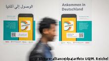 Deutschland Gespräch Asylsuchende mit Bundesmat für Migration und Flüchtlinge