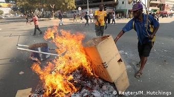 Simbabwe Wahl   MDC Protest & Ausschreitungen in Harare