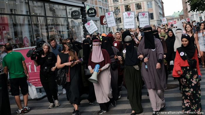 Protesters also marched in Denmark's second-biggest city of Aarhus