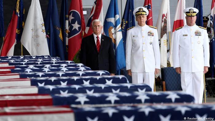 Paerl Harbour Zeremonie Überführung Koreakrieg Gefallener Mike Pence (Reuters/H. Gentry)
