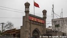 China Kaschgar Mosche chinesische Fahne