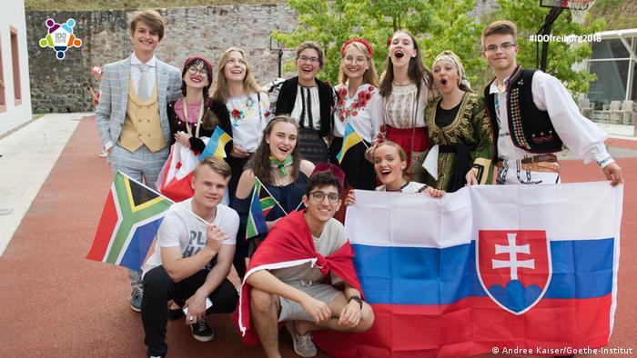 Участники международной олимпиады по немецкому языку во Фрайбурге