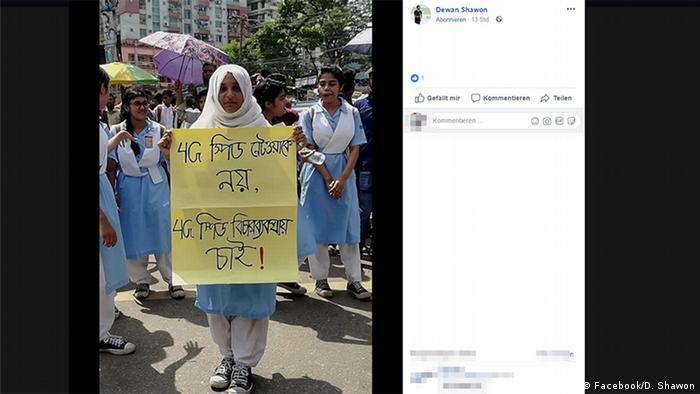 Bangladesch; Studenten; Straßenverkehr; Unfall; Verkehr; Sicherheit (Facebook/D. Shawon)