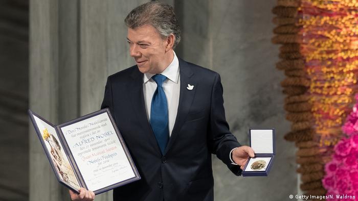 Oslo Juan Manuel Santos Nobelpreis (Getty Images/N. Waldron)