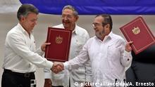 Kuba Juan Manuel Santos Timochenko Waffenstillstandsabkommen FARC