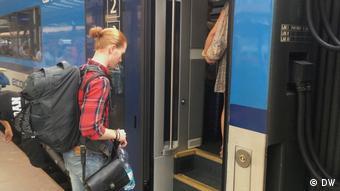 Επιβίβαση σε τρένο στη Γερμανία
