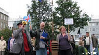 EU - Skeptiker demonstrieren in Reykjavik