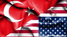 Türkische und Amerikanische Flagge