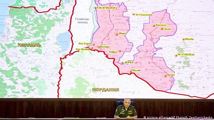 Russian military describing situation in Syria